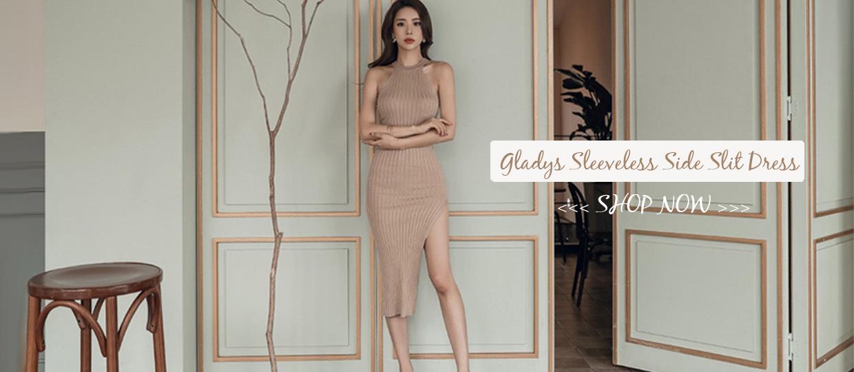 Gladys Sleeveless Side Slit Dress