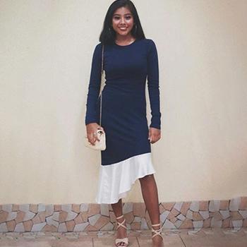 Kaivila Sleeve Asymmetrical Hem Dress