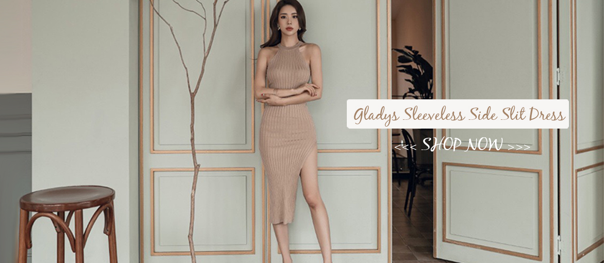 Gladys Sleeveless Side Slit Dress